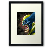 Painted Wolverine Framed Print