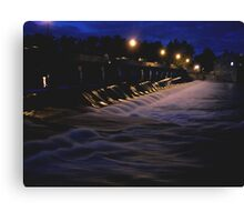 Night Light WaterFall In Motion  Canvas Print