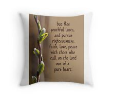 Flee, Pursue, Call on the Lord ~ 2 Timothy 2:22 Throw Pillow