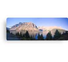 Crow Mountain, Crow Glacier and Bow Lake Panorama Canvas Print