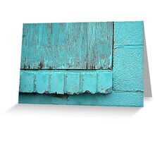 Turquoise Texture  Greeting Card