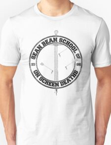 Sean Bean School of On Screen Deaths Unisex T-Shirt