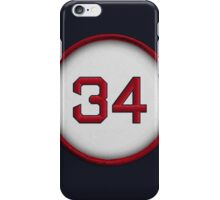 34 - Big Papi (on blue) iPhone Case/Skin