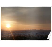 Sun Beaming The Snow Away Poster