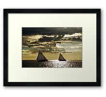 Sailing boats Framed Print