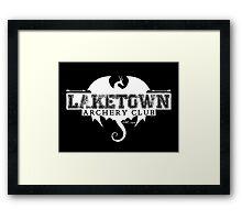 Laketown Archery Club (Dark) Framed Print