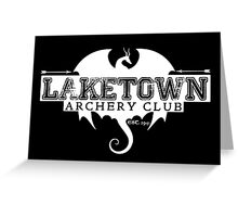 Laketown Archery Club (Dark) Greeting Card