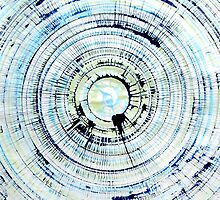 Blue Green Spin Art by Rachel Krueger