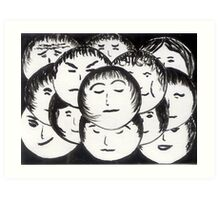 Faces in the Crowd Art Print