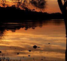 Golden Lakes Sunrise narrabeen by Mark van den Hoek