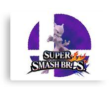 Mewtwo Smash Bros 3ds/Wiiu Canvas Print