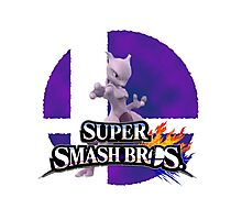 Mewtwo Smash Bros 3ds/Wiiu Photographic Print