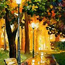 Park Lights — Buy Now Link - www.etsy.com/listing/172689291 by Leonid  Afremov