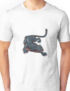 Black Panther Crouching Cartoon Unisex T-Shirt