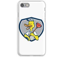 Duck Plumber Holding Plunger Shield Cartoon iPhone Case/Skin