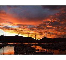 Sunrise At The Marina, Cairns, Queensland, Australia Photographic Print
