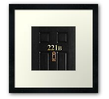 221b Bag Framed Print