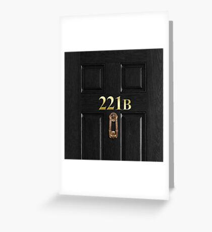 221b Bag Greeting Card