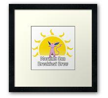 Espeon's Morning Sun Brand Coffee Framed Print