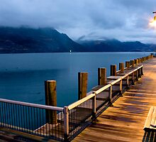 Queenstown Pier by Jude Glenn