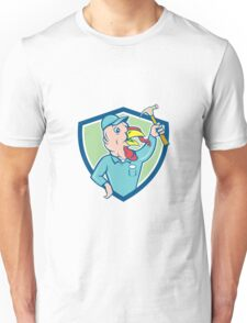 Turkey Builder Hammer Shield Cartoon Unisex T-Shirt