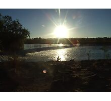 Ivanhoe Crossing sillouette sunset Photographic Print