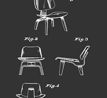 Mid Century Eames LCW Molded Plywood Chair Patent Drawing by Framerkat