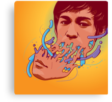 Happily melting Bruce Lee Canvas Print