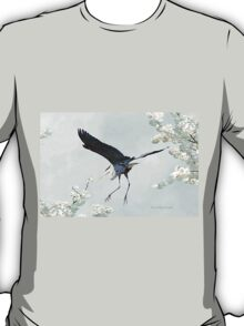 Great Blue Heron in Spring T-Shirt