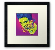 Happily melting Elvis Framed Print