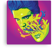 Happily melting Elvis Canvas Print