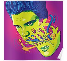 Happily melting Elvis Poster