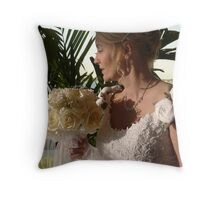 The Beautiful Bride Throw Pillow