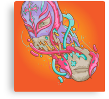 Happily melting Rey Mysterio Canvas Print
