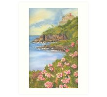 Lands End on Baileys Island In Maine  Art Print