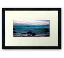 Sunset at Kirra Point Framed Print