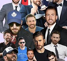 Chris Evans Collage by evelynpina