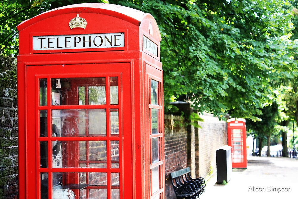 North London Phone Box by Alison Simpson