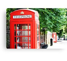 North London Phone Box Canvas Print