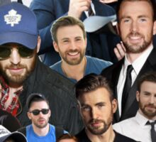 Chris Evans Collage Sticker