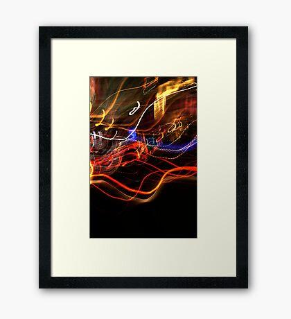 Crazy City Framed Print