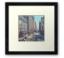 Joffrey Ballet Street View Framed Print