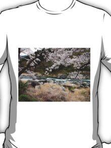 Sakura in Mt. Mitake Valley T-Shirt