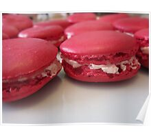 Strawberry Macaroons Poster