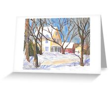 Bristol Road, Damriscotta Maine  Greeting Card