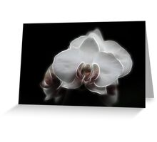 Fractal Orchid Greeting Card