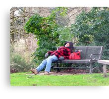 A Bench is a Bed Metal Print