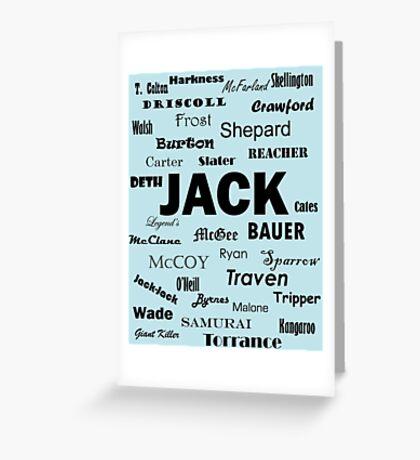 Get JACK! Greeting Card