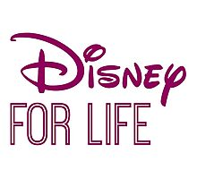 Disney For Life in purple Photographic Print
