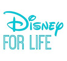 Disney For Life in blue Photographic Print